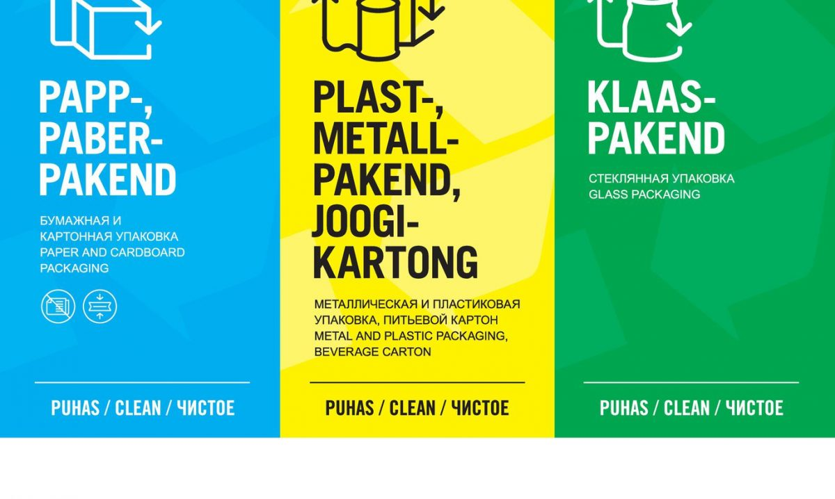 Новые наклейки на контейнеры для отходоАвтор/источник фото: Pakendiringlus OÜ