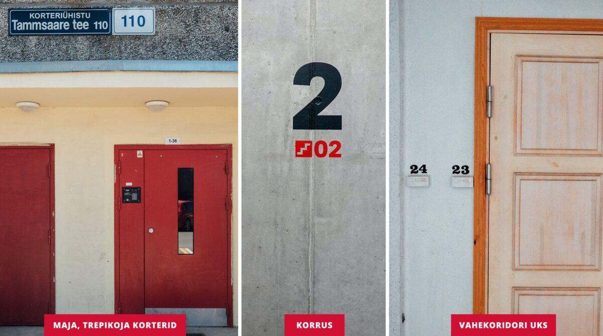 Спасательный департамент Эстонии: Двери и этажи в многоквартирных домах должны быть пронумерованы. Фото: Спасательный департамент.